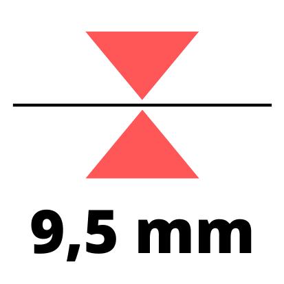Debelina 9,5 mm