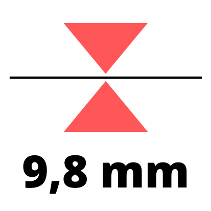 Debelina 9,8 mm