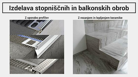 Stopniščni elementi in balkonske obrobe